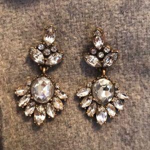 J. Crew crystal earrings